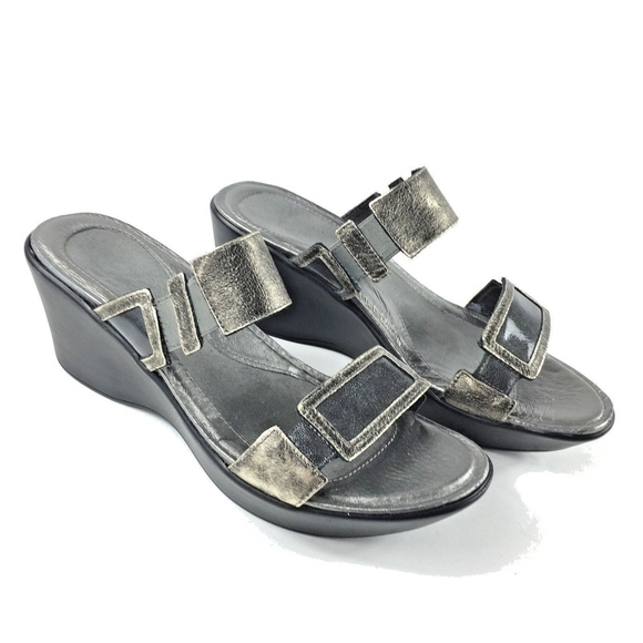 Naot Distressed Silver Slide Casual